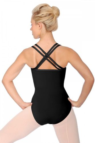 Roch Valley Dance Leotard X Back Straps Bra Shelf Lining Cotton Black Sophie